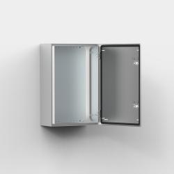 ELDON Schaltschrank Wandgeh/äuse eint/ürig mit Montageplatte HxBxT//mm 400 x 300 x 155