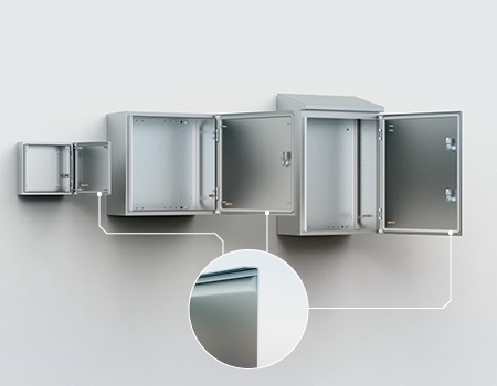 The silicone gasket in Eldon's stainless steel wall mounted
