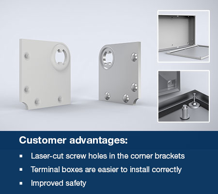 Enhanced corner brackets for Eldon mild steel (STB) and